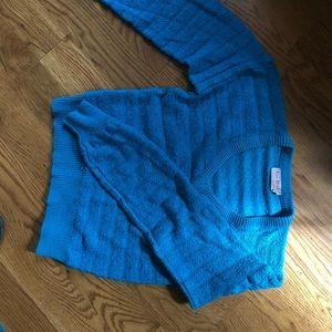 2 for 15 Vintage turquoise blue v-neck sweater